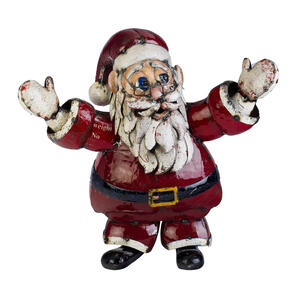 Think Outside  St. Nick  Christmas Decoration  Red / White  Metal  30  1 pk