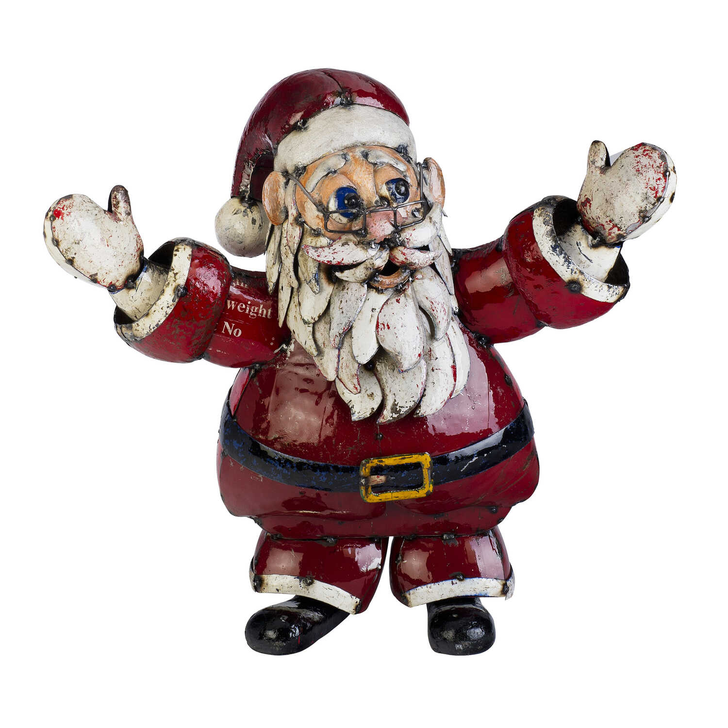 Think Outside  St. Nick  Christmas Decoration  Red / White  Metal  1 pk