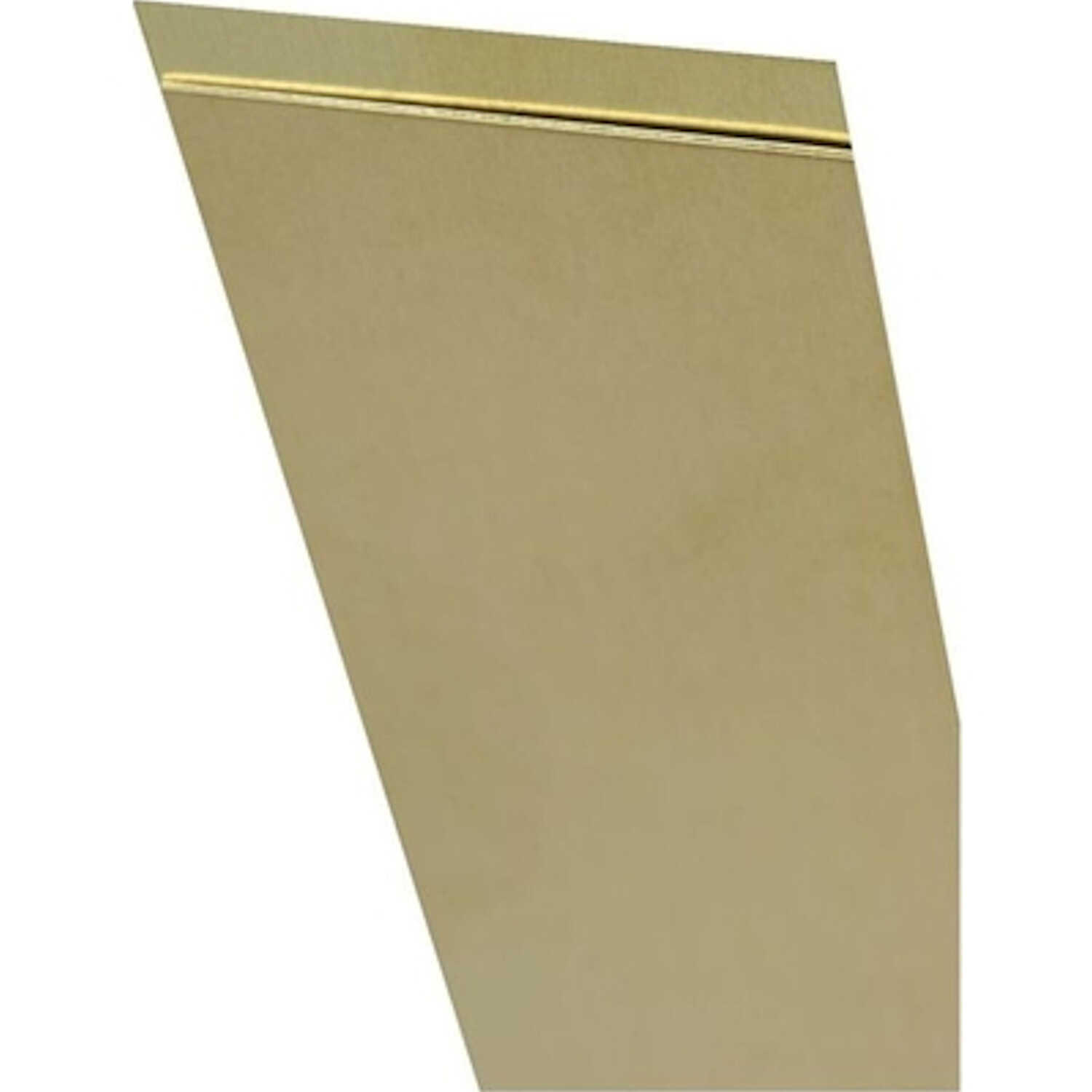 K&S  0.016 in.  x 2 in. W x 12 in. L Brass  Metal Strip