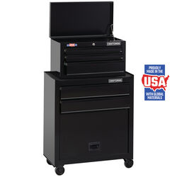 Craftsman 26.5 in. 5 drawer Metal Ball-Bearing Tool Center 45.5 in. H x 14 in. D Black