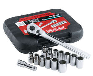 Craftsman  19 mm  x 1/2 in. drive  Metric and SAE  12 Point Socket Wrench Set  15 pc.