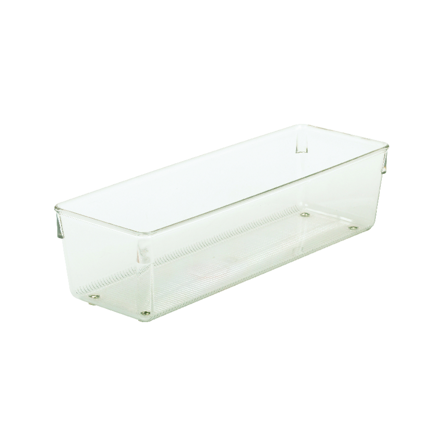 InterDesign  3 in. H x 4 in. W x 12 in. L Plastic  Drawer Organizer  Clear