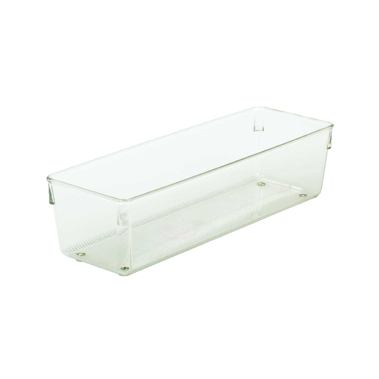 InterDesign  3 in. H x 4 in. W x 12 in. L Clear  Plastic  Drawer Organizer