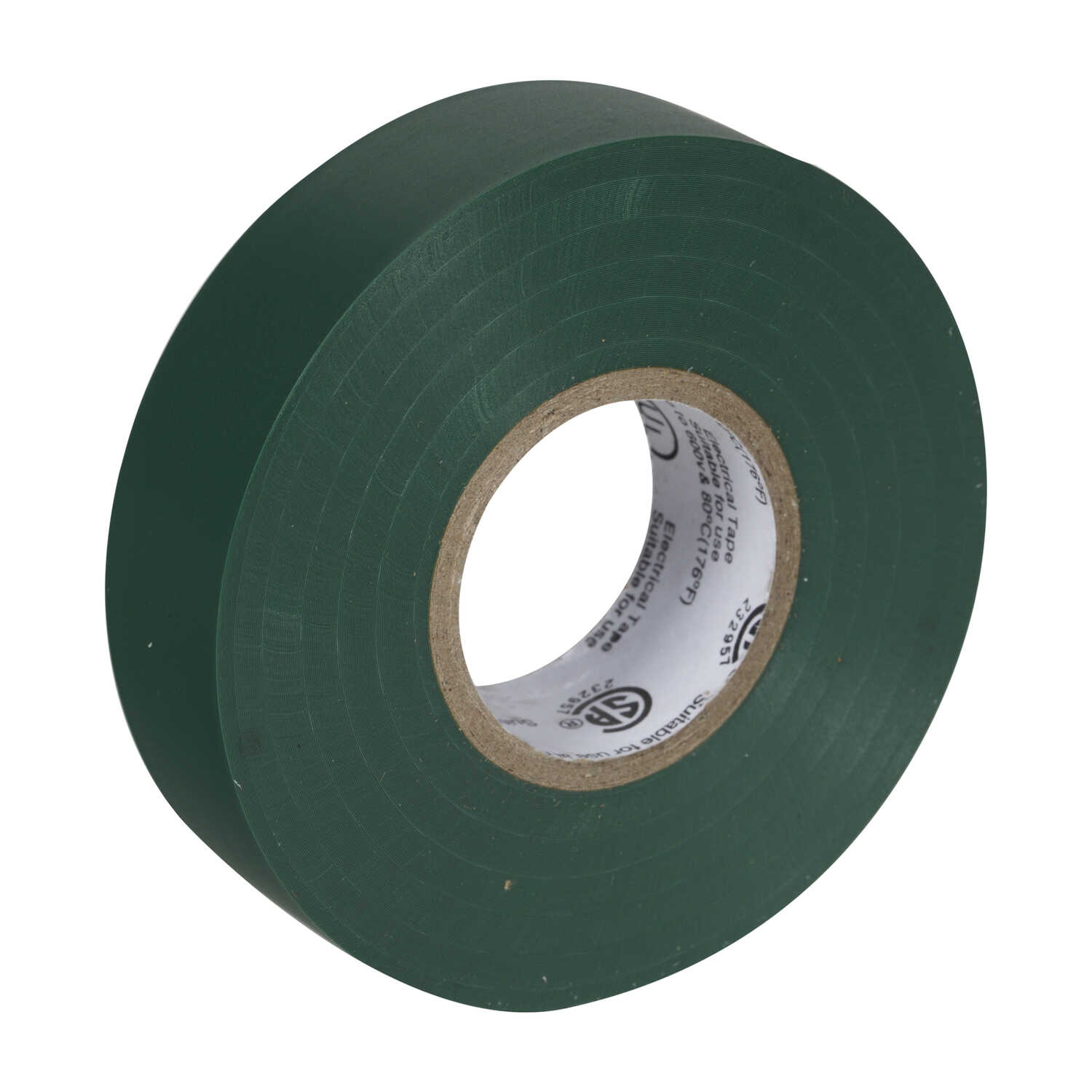 Duck  3/4 in. W x 66 ft. L Green  Vinyl  Electrical Tape