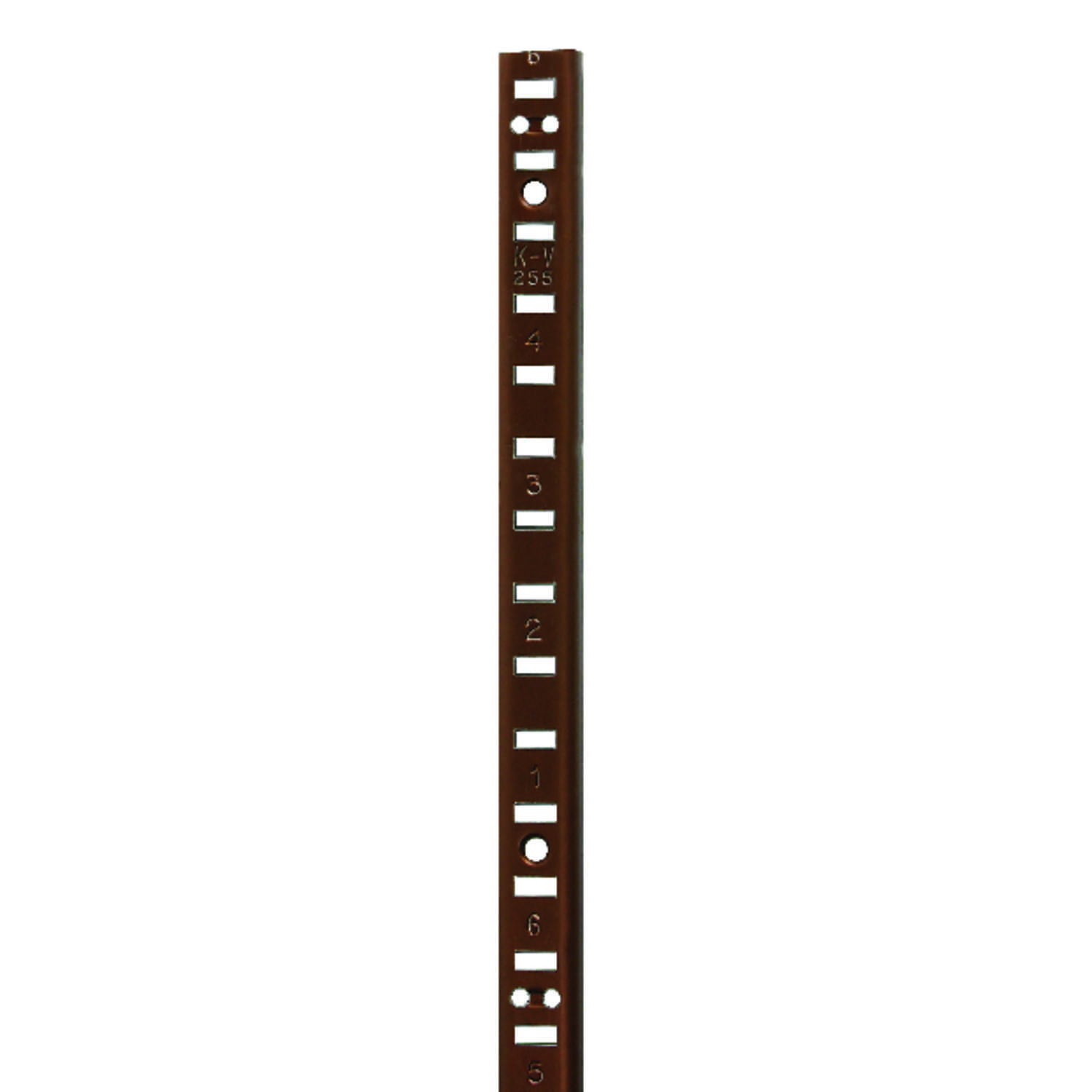 Knape & Vogt  Aluminum  Heavy Duty Shelf  Pilaster  0.25 in. H x 72 in. L 250 lb.
