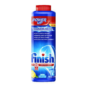 Finish  Power Up  Lemon Scent Powder  Dishwasher Booster  14 oz.