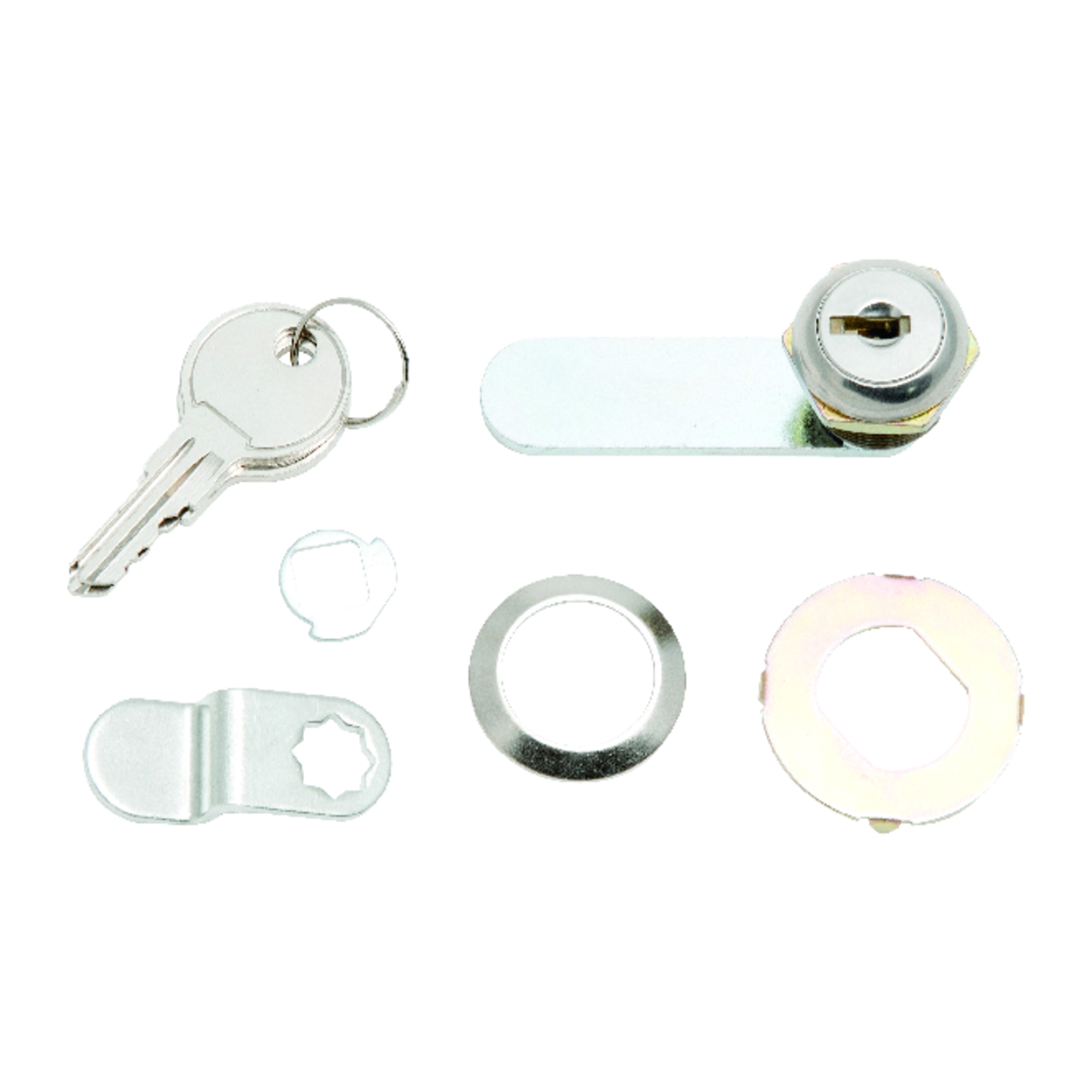 Ace Keyed Cam Lock Keyed Different 1/4 in., 3/8 in. Chrome