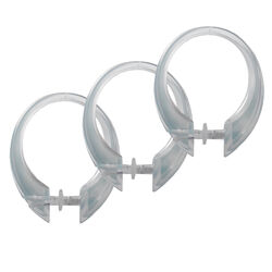 Excell  Deluxe Button-Up  Clear  Plastic  Deluxe Button-Up  Shower Curtain Rings  12 pk