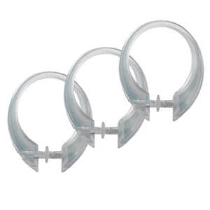 Excell  Clear  Plastic  Deluxe Button-Up  Clear  12 pk Shower Curtain Rings