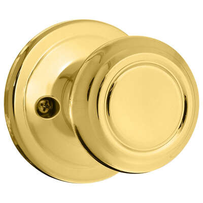 Kwikset  Cameron  Polished Brass  Steel  Dummy Knob  2  Right or Left Handed