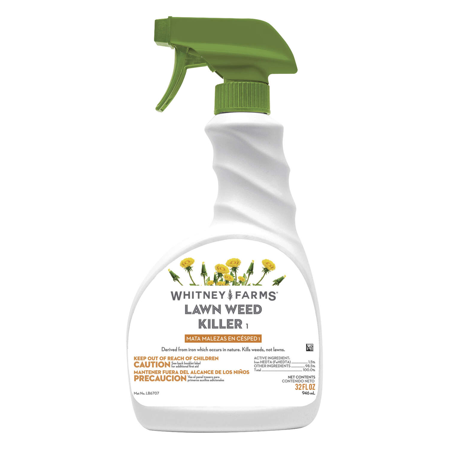 Whitney Farms  Ready-To-Use  Organic Weed Killer  RTU Liquid  32 oz.