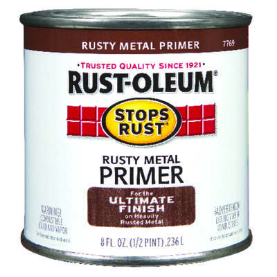 Rust-Oleum  Stops Rust  Brown  Oil-Based  Alkyd  Primer  0.5 pt.
