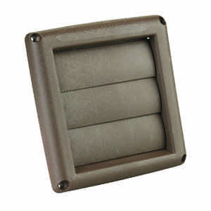 Ace  4 in. W x 4 in. L Brown  Plastic  Replacement Vent Hood