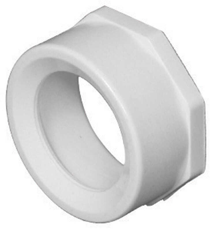 Charlotte Pipe  Schedule 40  2 in. Spigot   x 1-1/2 in. Dia. Hub  PVC  Flush Bushing