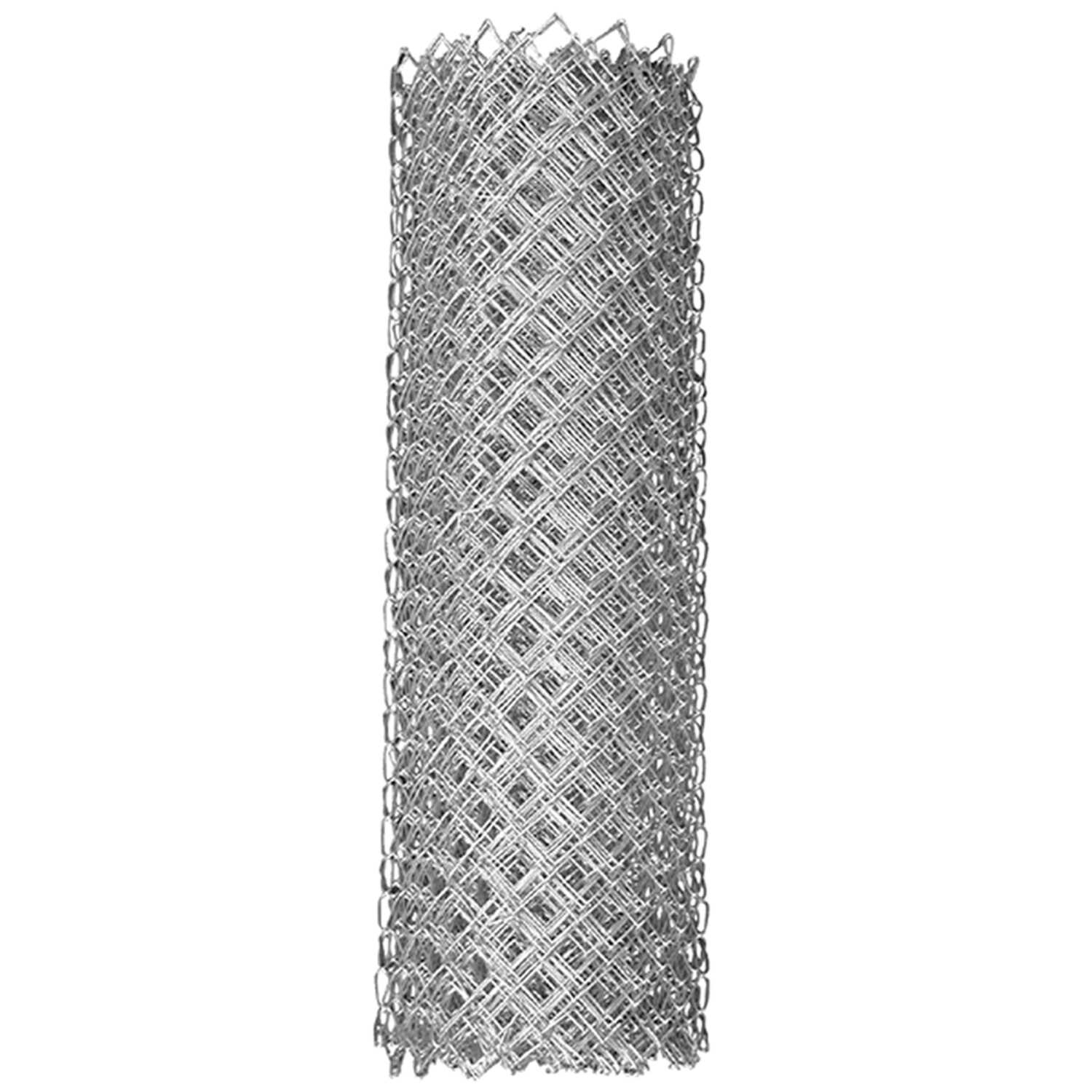 YardGard  48 in. H x 50 ft. L Steel  Chain Link  Fence  Silver