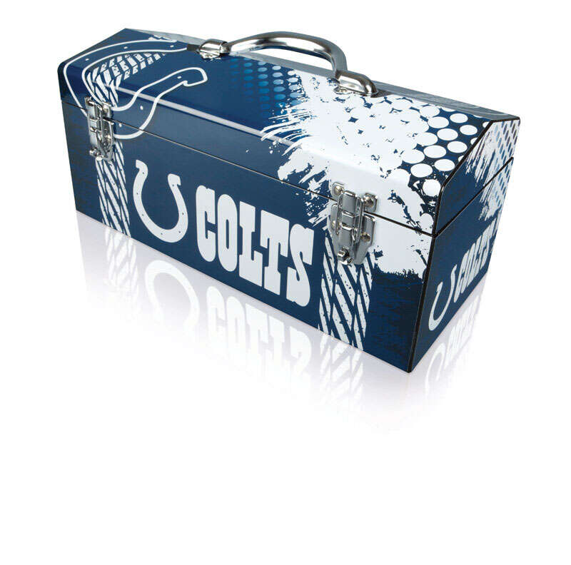 Sainty International  Indianapolis Colts  16.25 in. Steel  Indianapolis Colts  7.1 in. W x 7.75 in.