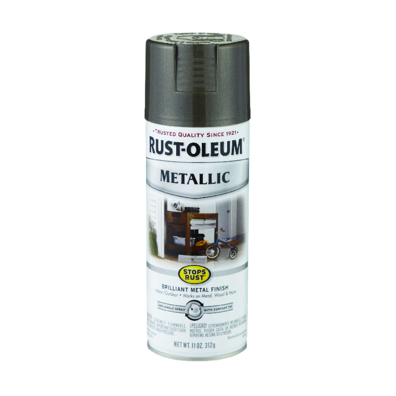 Rust-Oleum  Stops Rust  Dark Bronze  11 oz. Spray Paint