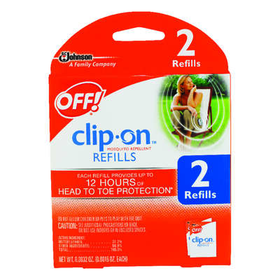 OFF!  Clip On  Insect Repellent Refill  Cartridge  For Mosquitoes 1.6 oz.