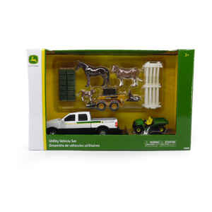 Tomy  John Deere  Utility Vehicle Farm Set  Plastic  21 pc.