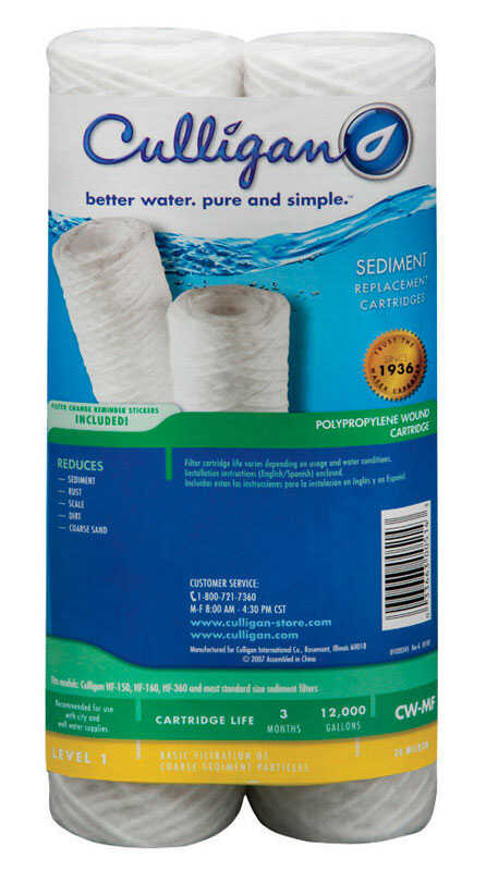 Culligan  Better Water Pure and Simple  Whole House Water Filter  For Whole House 12000 gal.