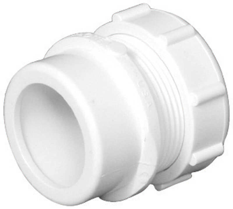 Charlotte Pipe  Schedule 40  1-1/2 in. Spigot   x 1-1/4 in. Dia. Slip  PVC  Reducing Coupling