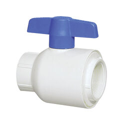 Spears  1-1/2 in. FPT   x 1-1/2 in. Dia. FPT  PVC  Utility Ball Valve
