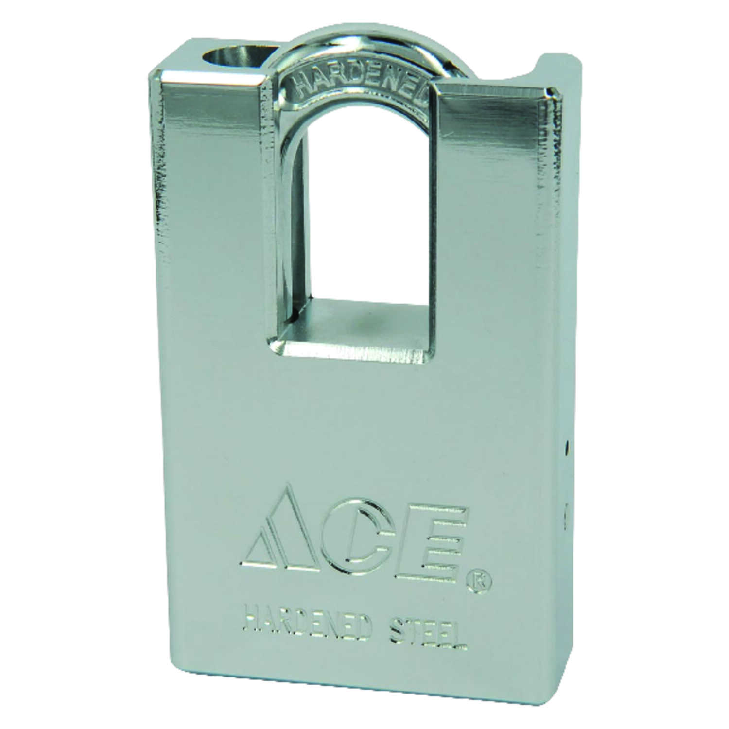 Ace  1-13/16 in. H x 2 in. W x 3/4 in. L Steel  Double Ball Locking  Shrouded Shackle Padlock  1 pk