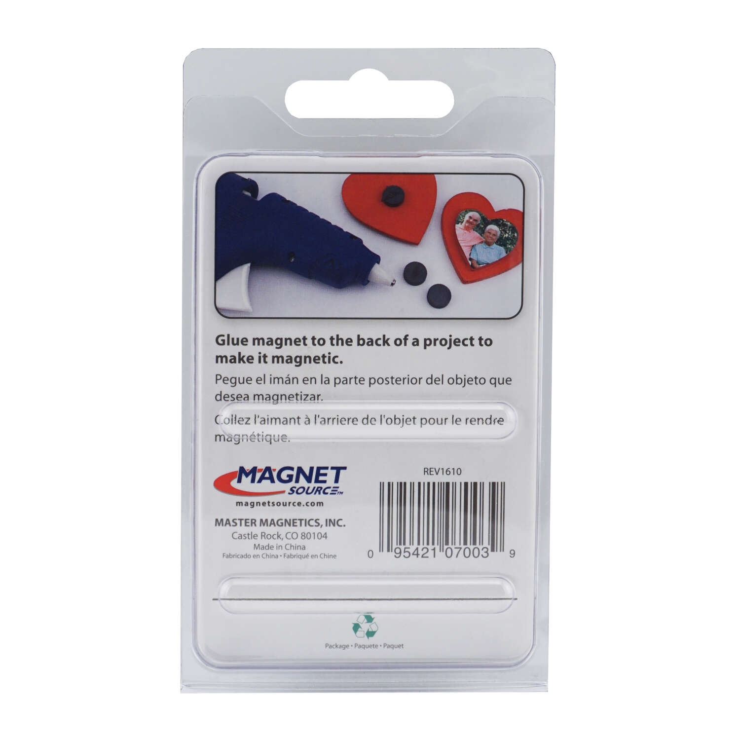 Master Magnetics  The Magnet Source  .197 in. Ceramic  Disc  Disc Magnets  3.5 MGOe Black  0.7 lb. p