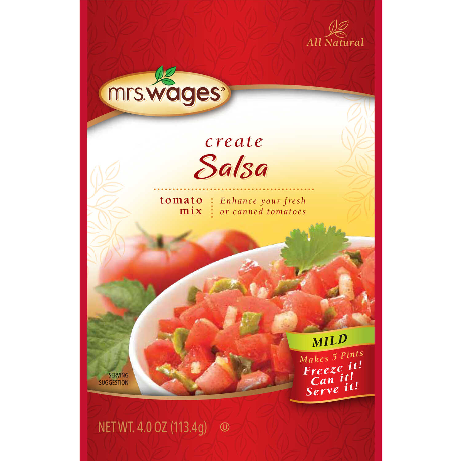 Mrs. Wages  Salsa Tomato Mix  1 pk 4 oz.