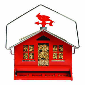 Perky-Pet  Wild Bird  Metal  Bird Feeder  1 ports 8 lb.