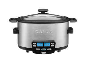 Cuisinart  4 qt. Silver  Stainless Steel  Programmable Slow Cooker