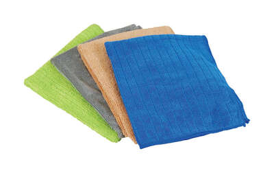 Quickie Home Pro Microfiber Cleaning Cloth 13 in. W x 15 in. L 4 pk