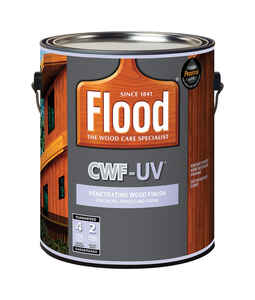 Flood  CWF-UV  Transparent  Smooth  Honey Gold  Water-Based  Acrylic/Oil  Wood Stain  1 gal.