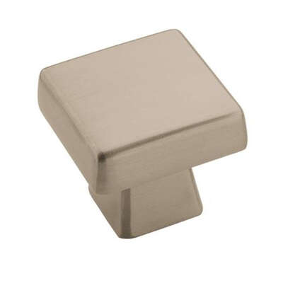 Amerock Blackrock Collection Square Cabinet Knob 1 in. Satin Nickel 1 pk