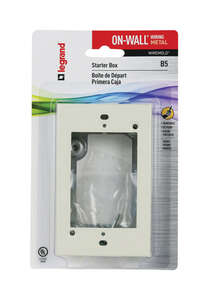 Wiremold  Rectangle  Extension Starter Box  Ivory  1 in. Metal