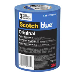 3M  Scotch Blue  1.88 in. W x 60 yd. L Blue  Medium Strength  Painter's Tape  3 pk