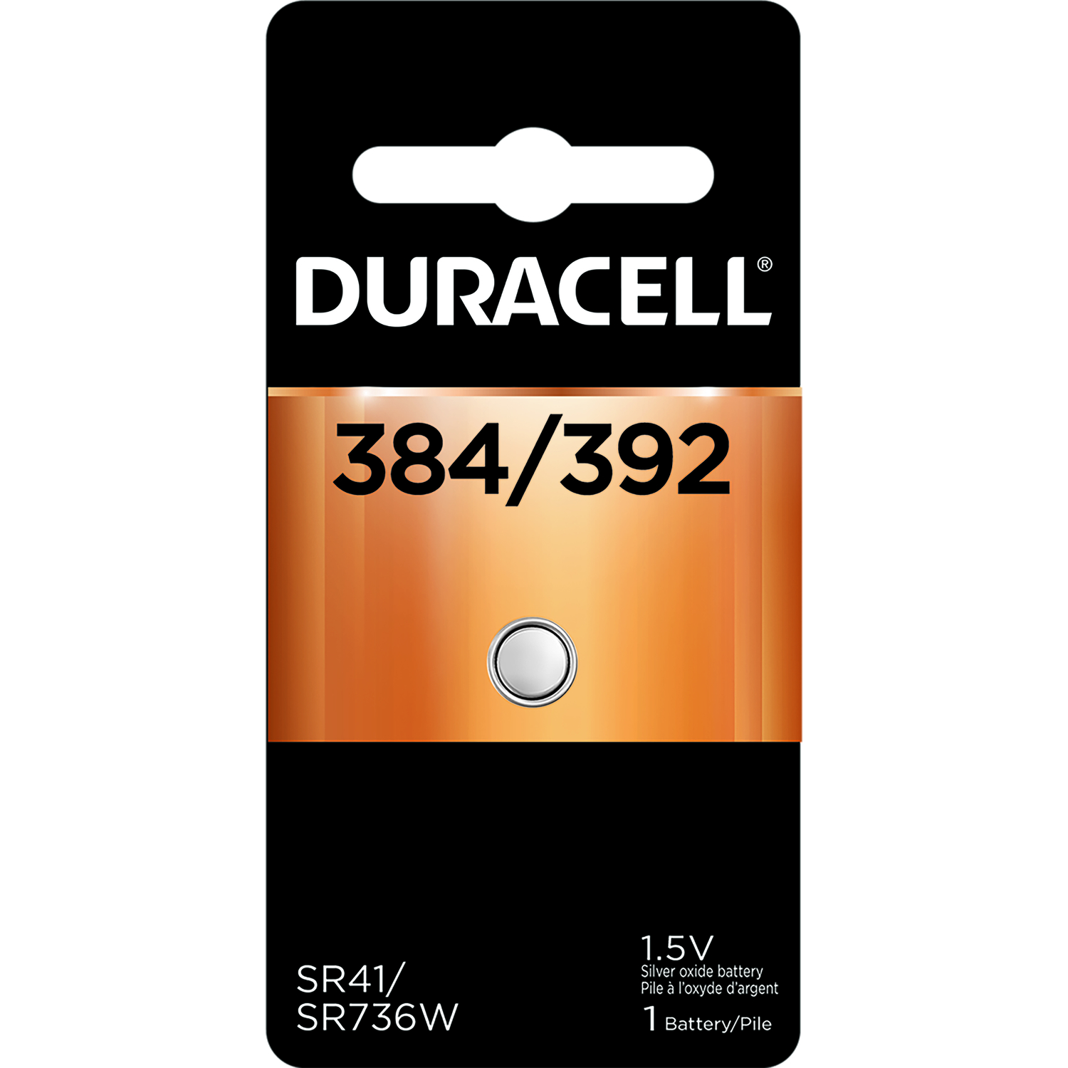 Duracell  384/392  Silver Oxide  1 pk Electronic/Watch Battery