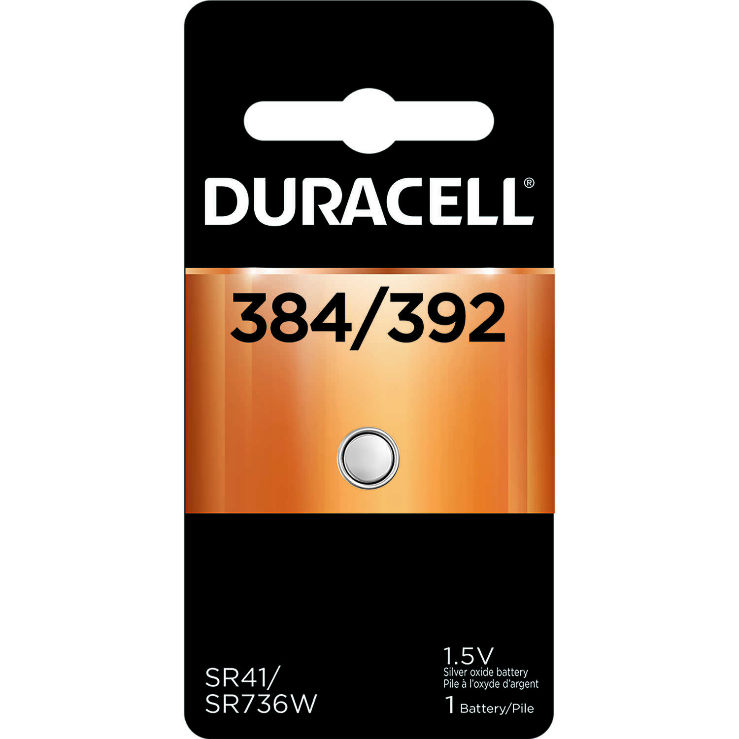 Duracell  Silver Oxide  384/392  1.5 volt Electronic/Watch Battery  1 pk