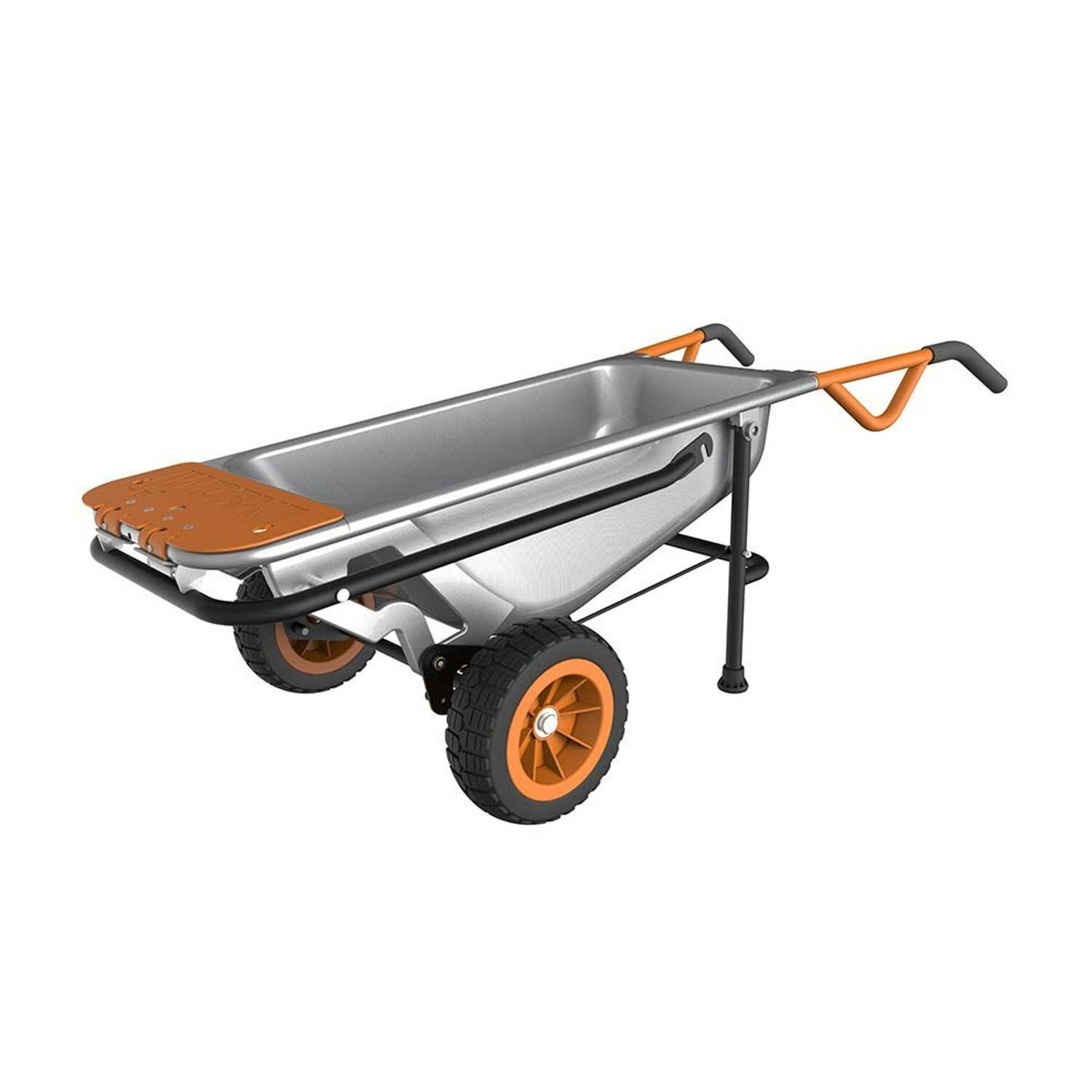Worx  Aerocart  Steel  Wheelbarrow