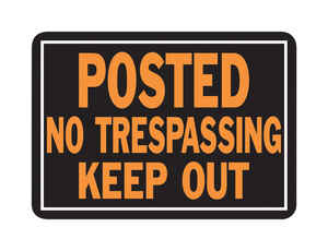 Hy-Ko  English  Posted No Trespassing Keep Out  Sign  Aluminum  9.25 in. H x 14 in. W