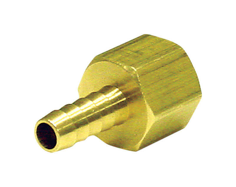 JMF  Brass  Hose Barb  3/8 in. Dia. x 1/4 in. Dia. Yellow  1 pk