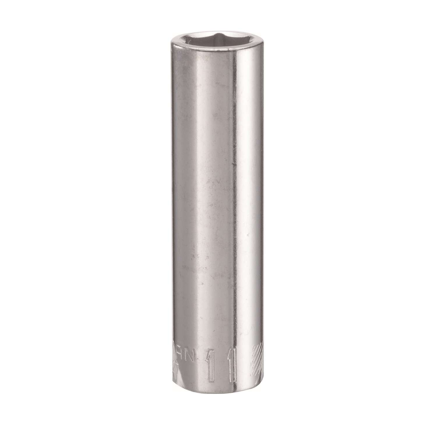 Craftsman  11 mm  x 3/8 in. drive  6 Point Deep  Deep Socket  1 pc.