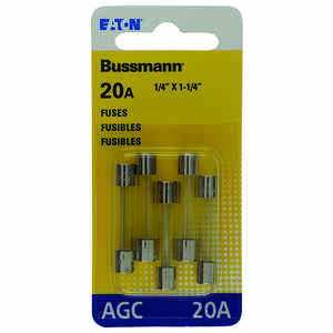 Bussmann  20 amps AGC  Fuse Assortment  5 pk