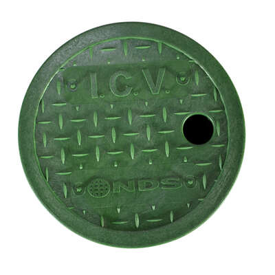 NDS  Econo  7  W x 2  H Round  Valve Box Cover  Green