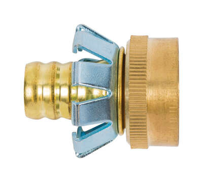 Gilmour  5/8 in. Brass  Threaded  Female  Clinch Coupling