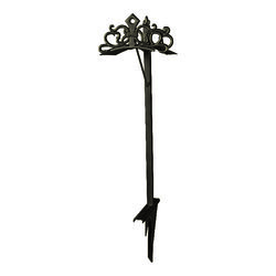 Liberty Garden Products  125 ft. Free Standing  Decorative  Bronze  Hose Holder