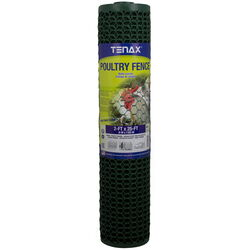 Tenax  2 ft. H x 25 ft. L 20 Ga. Green  Poultry Fence
