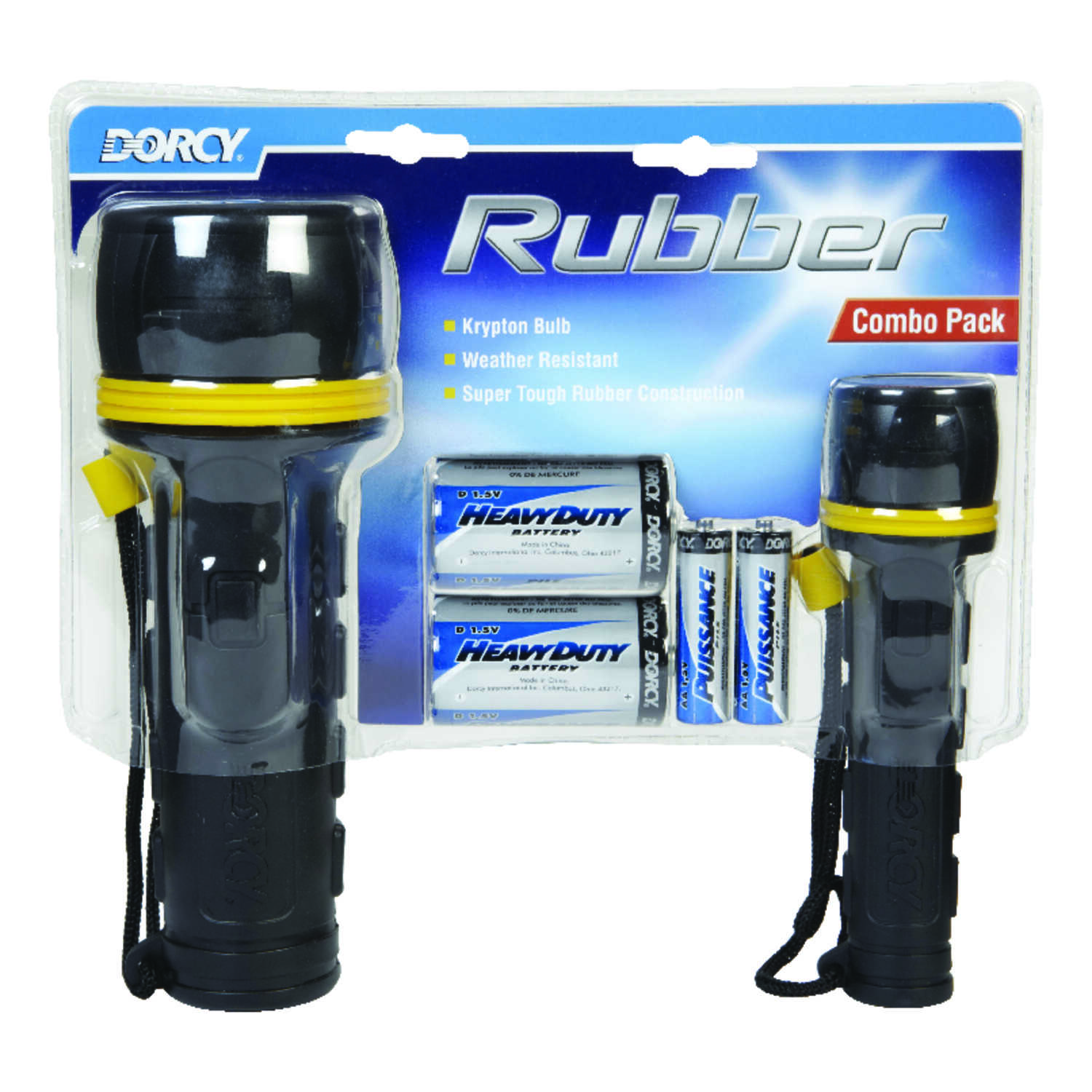 Dorcy  Rubber  Black  Krypton  Flashlight  AA/D