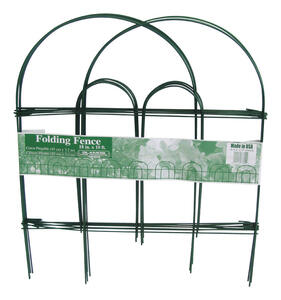 Glamos Wire  18 in. H x 10 ft. L Steel  Garden  Fence  Green