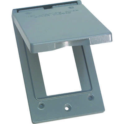 Sigma Electric  Rectangle  Metal  1 gang Vertical GFCI Cover  For Wet Locations